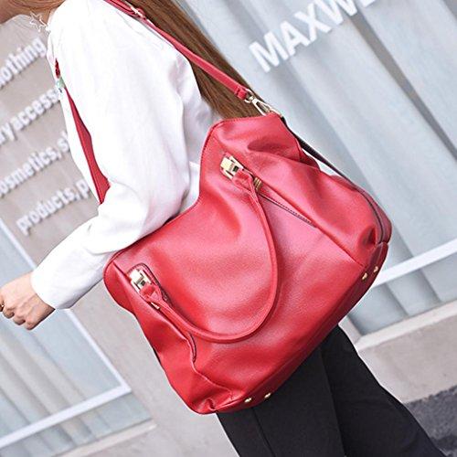 Tote Women Capacity Crossbody Leather Bag Bag Large Rakkiss Shoulder Shopping Bag Red Bags Handbag Handbag pdvwTdHqC