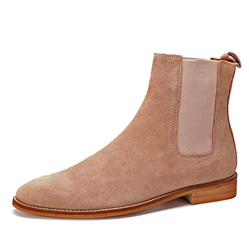 8c8c871fbd669 HKLA Chelsea Boots for Men Genuine Leather Suede Shoes Stylish ...