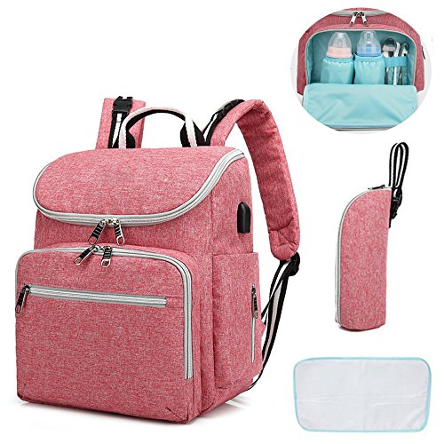 Topcrazy Diaper Bag Multi-Function Nappy Bags Waterproof Maternity Travel Backpack for Mom/Dad Baby Care, Large Capacity, Durable and Stylish