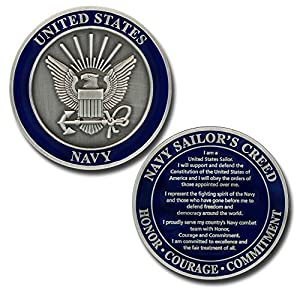 U.S. Navy Sailor's Creed Challenge Coin from Armed Forces Depot