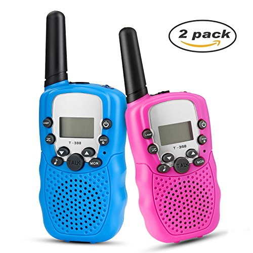 Vivi Do 2Pcs Kids Walkie Talkies 3KM-5KM Range 22 Channels T