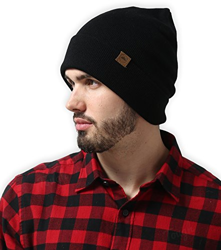 Cuff Beanie Watch Cap by Tough Headwear - Warm, Stretchy & Soft Knit Hats for Men & Women - Serious Beanies for Serious Style (with 6+ Colors) (Cuffed Knit Beanie Cap)