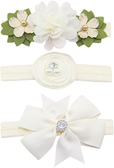 3Pcs//set Cute Kids Girls Baby Toddler Flower Headband Hair Band Headwear Gift