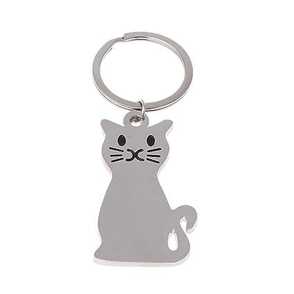 Dabixx Keychain, Llavero Gato del Gatito Llavero versátil de ...