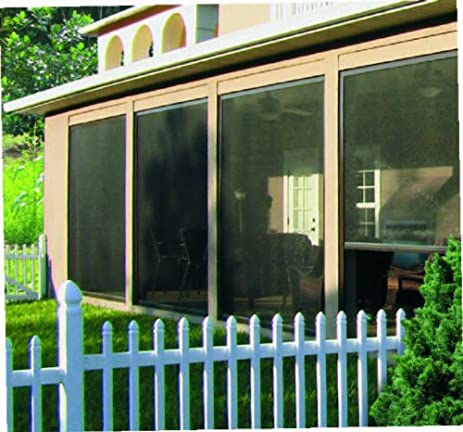 retractable screen for garage porch patio lanai gazebo large