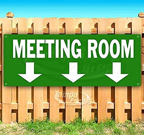 Meeting Room 13 oz Banner Heavy-Duty Vinyl Single-Sided with Metal Grommets