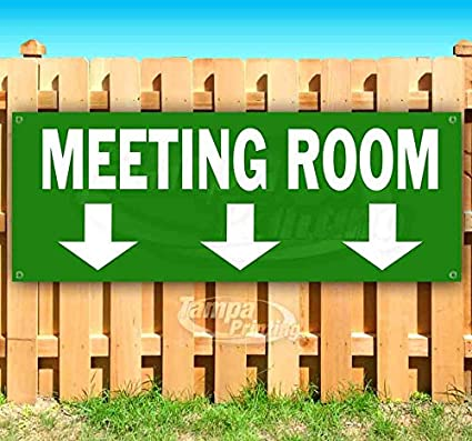 Flag, Many Sizes Available Meeting Room 13 oz Heavy Duty Vinyl Banner Sign with Metal Grommets New Advertising Store
