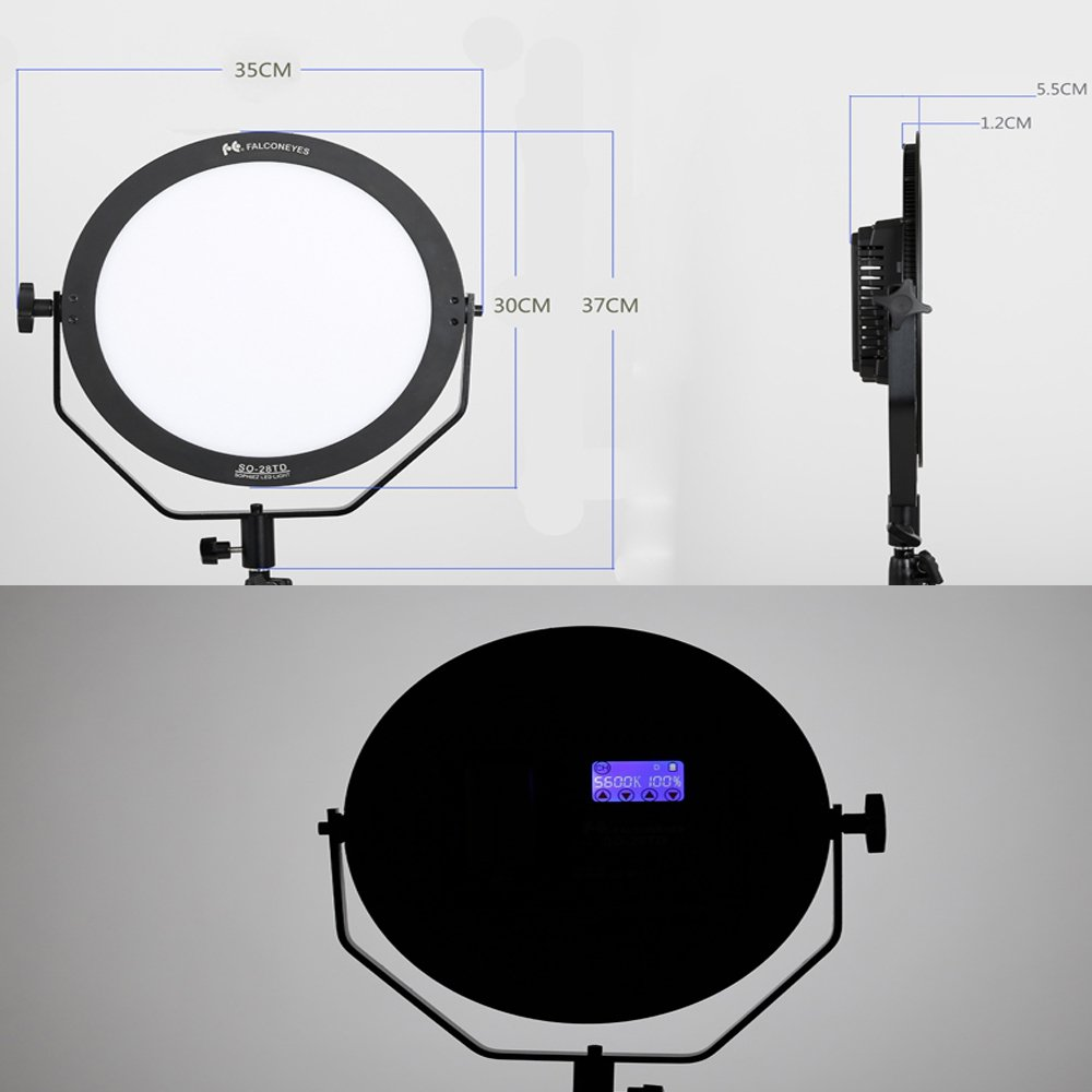 Falcon Eyes SO-28TD Kit 28W LED Dimmable High CRI95 3000-5600K Soft Lighting FlapJack LED Edge Light Film Continuous Lighting by FalconEyes (Image #5)