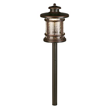 Hampton Bay 3-Watt Oil Rubbed Bronze Outdoor Integrated LED Landscape Path Light with Crackled