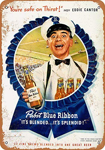 Sylty 12 x 16 Metal Sign - 1947 Pabst Beer Eddie Cantor, used for sale  Delivered anywhere in USA