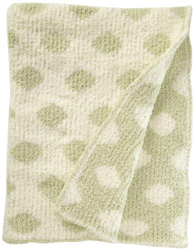Colorado Clothing Kid's Chunky Chenille Polka Dot Blanket, Wasabi, One Size (1 Colorado)