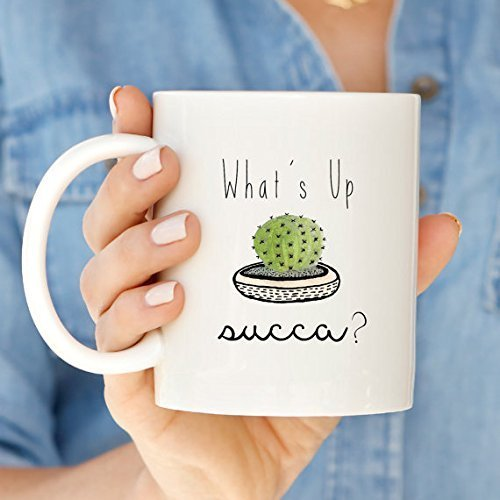 What's Up Succa Cactus Funny Mug | Cactus Coffee Mug | Funny Gift | Coffee Tea Mug | Gift for Friend | 11oz 15oz (Columbia Owls)