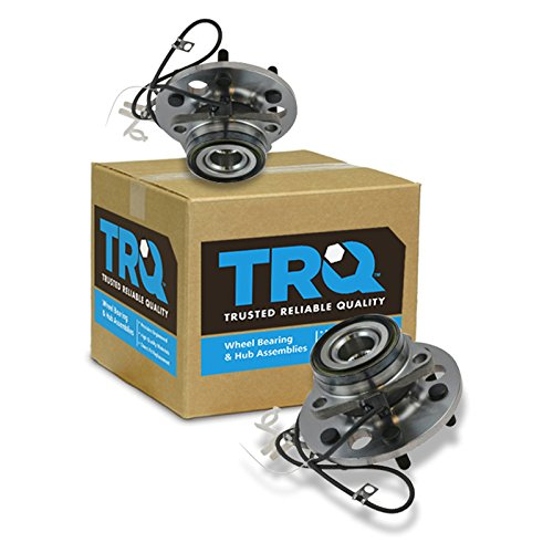 TRQ Front Wheel Hub & Bearing Pair Set for Chevy K1500 Pickup Tahoe w/ABS ()