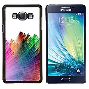 Eason Shop / Premium SLIM PC / Aliminium Casa Carcasa Funda Case Bandera Cover - Strokes pluma colorida Blanca - For Samsung Galaxy A7 ( A7000 )