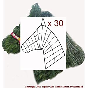 30 Horse Head Wreath Wire Forms - Made in horse country! 65