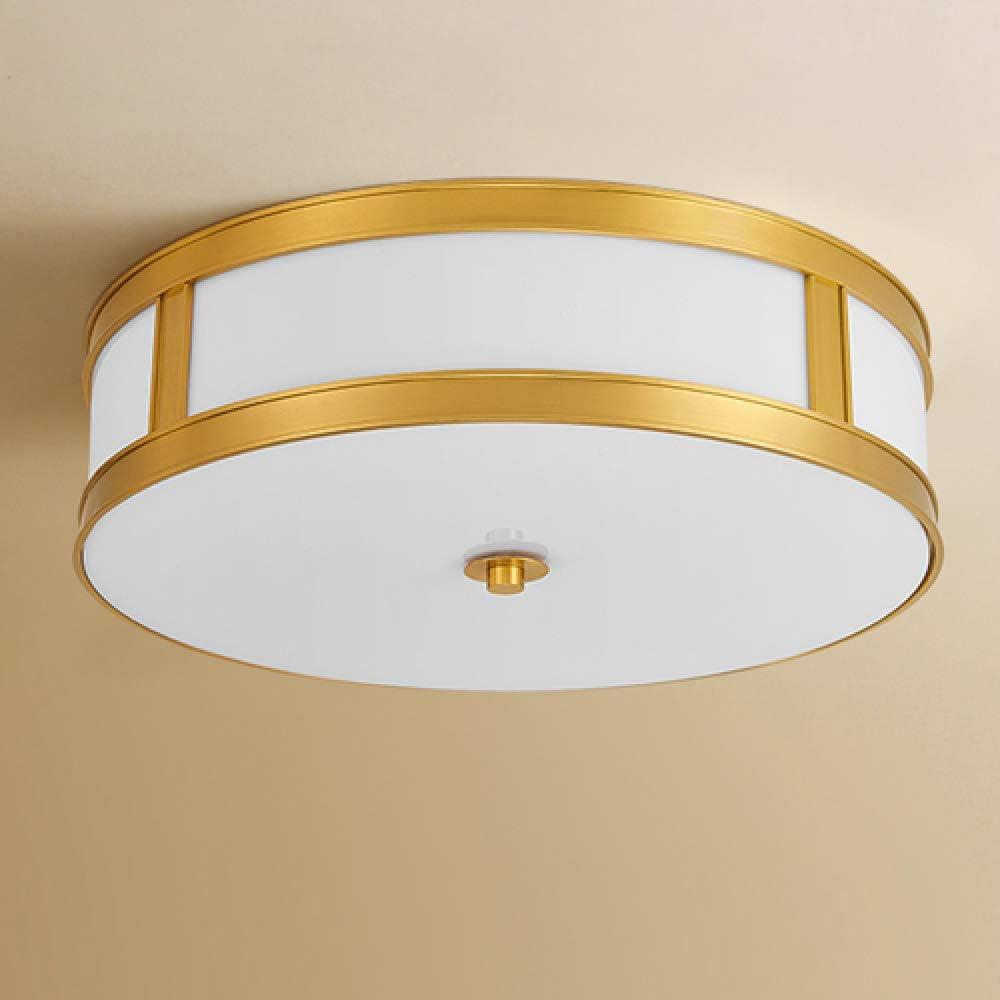 Pantalla de cristal dorado Luces de techo luces de dormitorio ...