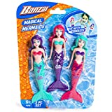 Fun Stuff Banzai Spring and Summer 3 Piece Magical Mermaid Dolls, in Assorted Colors