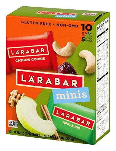 Larabar Minis Gluten Free Bar Variety Pack, Cashew Cookie/Apple Pie, .78 oz Bars (10 Count)