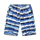 Ronlin Mens Beachwear Quick Dry Colorful Print High Tide Cool Summer Shorts Swimming Trunk