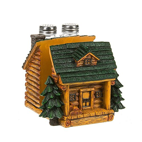 - Midwest-CBK Cabin Shaped Napkin and Salt & Pepper Holder