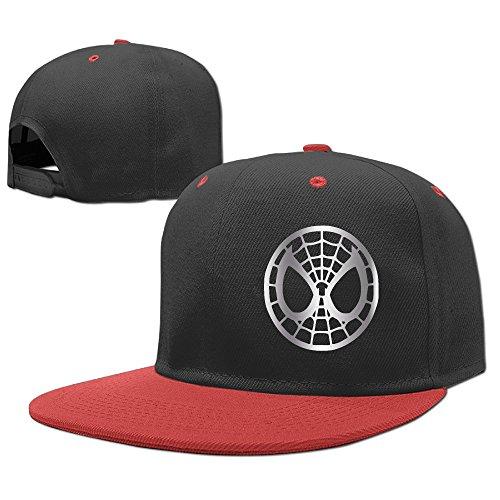 Kids Spider Gwen Symbol Platinum Style Hip-Hop Baseball Cap Red