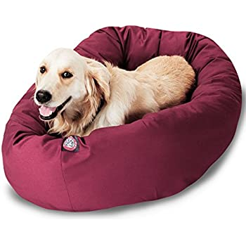 Amazon.com : 40 inch Burgundy Bagel Dog Bed By Majestic