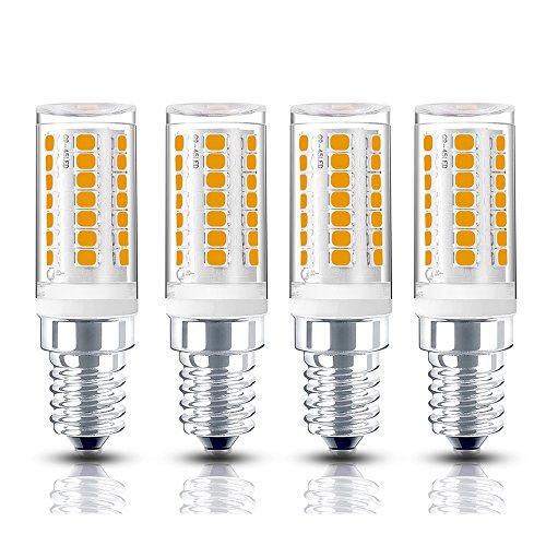 Bonlux 4W Dimmable E12 LED Candelabra Chandelier Bulb 120V Daylight 6000K T3/T4 E12 Candelabra Base 35W Halogen Replacement Bulb for Ceiling Fan, Desk Lamp, No Flicker (4-Pack) (T3 120v Candelabra Dimmable E12)