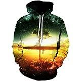 Yuehen Space Galaxy Hoodies Sweatshirt New Tree Lake Chiar 3D Hooded Hoody Sudadera