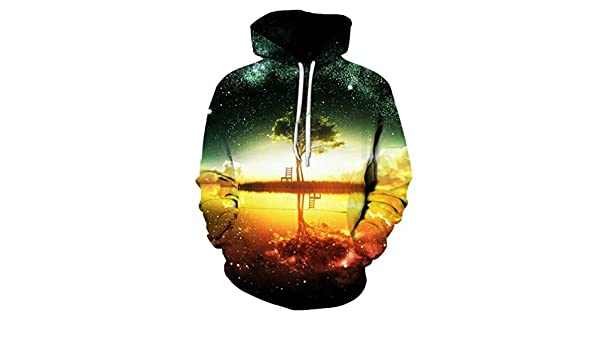 Amazon.com: Yuehen Space Galaxy Hoodies Sweatshirt New Tree Lake Chiar 3D Hooded Hoody Sudadera: Clothing