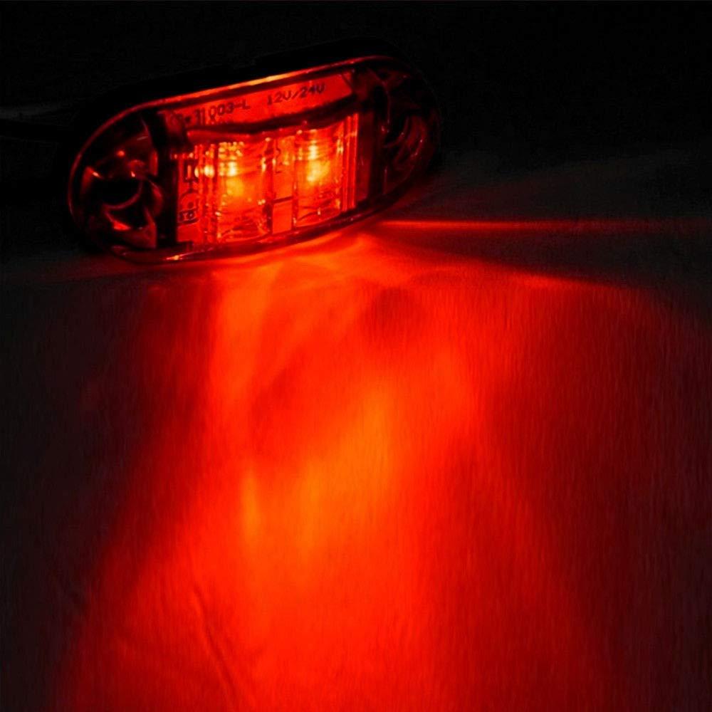 cami/ón MASO Luces Laterales LED Luces de Marcador Lateral Indicador de posici/ón L/ámparas Laterales 12 V 24 V Universal para Remolque Furgoneta cami/ón cami/ón o autob/ús de Coche Caravana