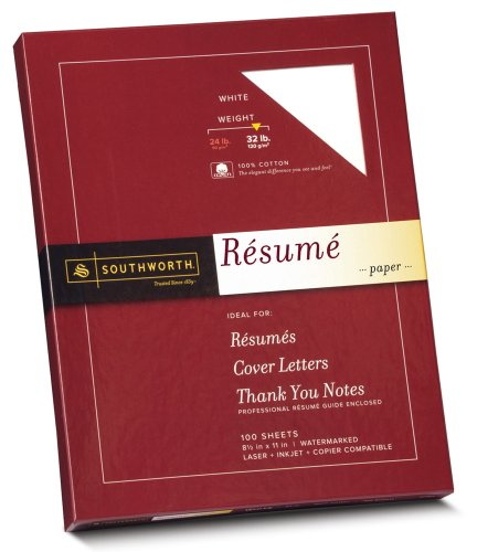 (Southworth 100% Cotton Resume Paper)