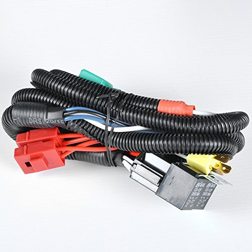 Dual High Low Beam Headlight Relay Wiring Harness H4/9003 With High Heat Ceramic Plugs (High Hid 9003 Beam With Kit Hid)