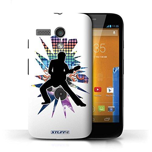 Etui / Coque pour Motorola MOTO G (2013) / étendre Blanc conception / Collection de Rock Star Pose