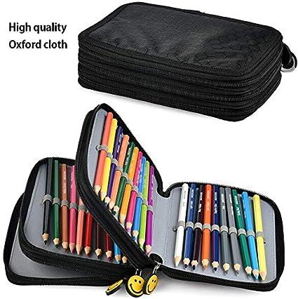 YOTINO Astuccio per matite di grande capacità Nero, Astucci per scuola per ragazze, Astuccio per rosa Astuccio per ragazze, Astuccio con studente per
