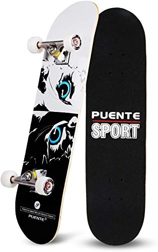 YF YOUFU Skateboard Complete, 31 Inch Pro Skateboards, Tricks Skate Board for Beginners- 7 Layer Canadian Maple Wood Double Kick Concave Skateboards