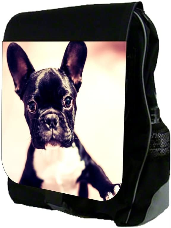 French Bulldog Puppy School Backpack and Pencil Case Set