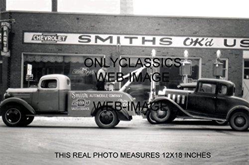 Chevrolet Wrecker - OnlyClassics 1930s Smith Chevrolet New Used CAR Dealer Tow Truck Wrecker 12x18 Photo Gas Pump