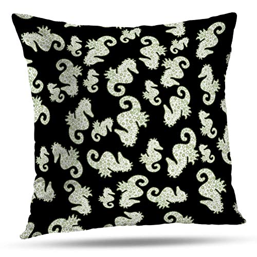(WAYATO 18 x 18 inch Decorative Pillow Covers, Spring Black White and Neutral Colors Watercolor Abstract Art Best Cloth Doodles Double-Sided Pattern Invisible Zipper Applies to Living Room)