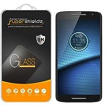 "[2-Pack] Supershieldz for Motorola ""Droid Maxx 2"" Tempered Glass Screen Protector, Anti-Scratch, Anti-Fingerprint, Lifetime Replacement Warranty"