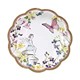 Talking Tables Fairy Party Supplies | Fairy Paper Plates | Great For Girls Party, Tea, Party And Birthday Party | Pink, 12 Count