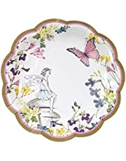 Save on Talking Tables Truly Fairy Scalloped Edge Pretty Paper Party Plates – Pack of 12, Microfibre Multi-Colour, 18.5 x 17 x 2.5 cm and more