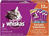 Whiskas Tender Bites Favorite Selections Variety Pack Wet Cat Food 3 Ounces (Two 24-Count Cases)