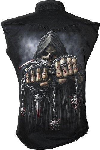 Spiral Game Over Worker Shirt, schwarz
