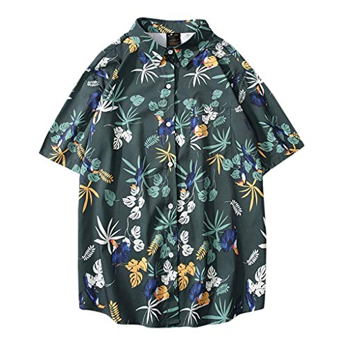 Shirt Mens Printed Beach Aloha Party Casual Holiday Short Sleeve -