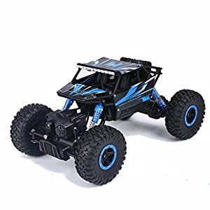 - 519QuQI tkL - ACLOOK RC Car Off Road Remote Control Car 4WD High Speed Vehicle Fast Race Truck 2.4GHz Electric Buggy Hobby Car – Blue