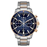 Bulova Men's 45mm Marine Star Two-Tone Stainless Steel Blue Dial Chronograph Bracelet Watch