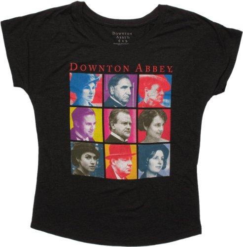 Juniors: Downton Abbey- Troupe Square (Dolman) Juniors (Slim) T-Shirt Size S