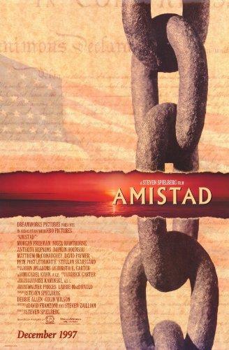 AMISTAD MOVIE POSTER 2 Sided ORIGINAL 27x40 MORGAN FREEMAN ANTHONY HOPKINS