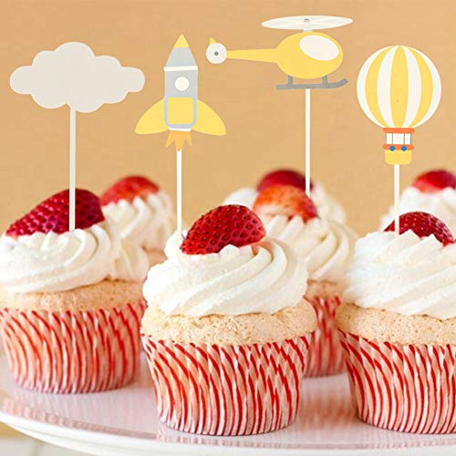 - Jiecikou Rainbow Cupcake Toppers, Cupcake Picks Cake Decorations for Baby Shower Decor Party Dessert Table Decorations Supplies B
