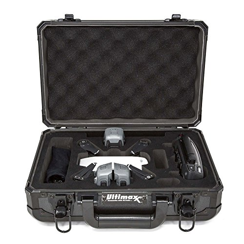 Ultimaxx Lightweight Aluminum Water Resistant Travel Carry Case for DJI Spark Drone Quadcopters